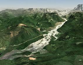River Valley Terrain 3D model