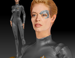 Seven of Nine Jeri Ryan Star Trek 3d print Figurine