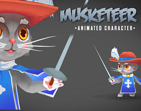 3D asset Musketeer animated character