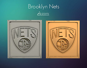 Brooklyn Nets Logo Relief 3D print model