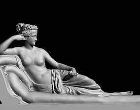 3D model paolina borghese antonio canova sculpture statue