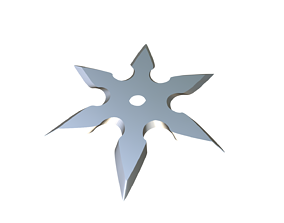 3D print model training Shuriken