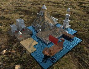pharaonic city 3D asset