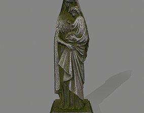 Woman Statue 3D asset low-poly