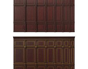 veneer Wooden panel 02 3D model