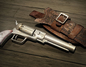 Wild West Pistol - Revolver with Holster 3D