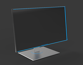 3D model Alien PC Monitor