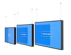 Digital Panel Horizontal Collection 3D model