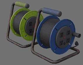 Extension Cord Reel 1B 3D model low-poly