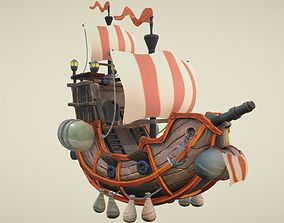 Flying Ship Hand-Painted 3D asset