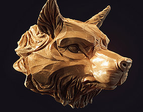 Wolf head pendant 3d print model decoration