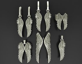 Wings Jewelry Collection rings 3D model