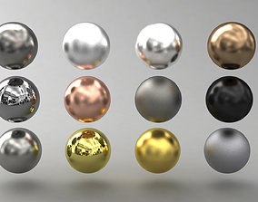 3D model VRAY SHADER---Metal---The 12 most used