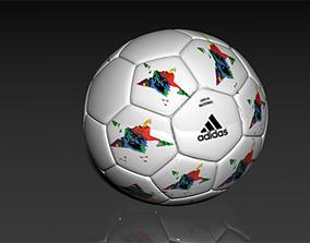 3D model star soccer ball adidas