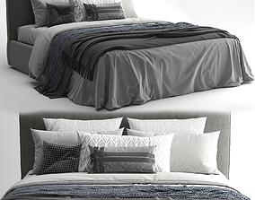 Bed Meridiani Stone Plus 3D model