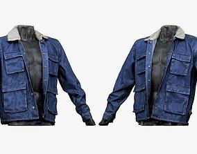 3D asset 001282 jeans blue jacket