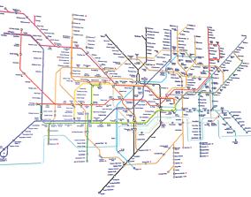 3D model London Underground Map