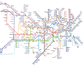 3D model London Underground Map