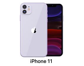 3D model Apple iPhone 11 Purple