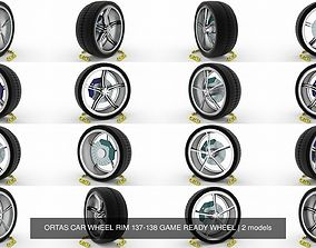 ORTAS CAR WHEEL RIM 137-138 GAME READY WHEEL 3D