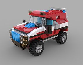 3D model Lego jeep game