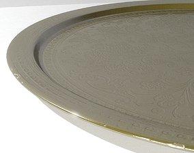 3D Brass Ornate Tray