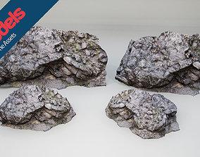 3D asset low-poly Unimodels Stone Walls Vol 1