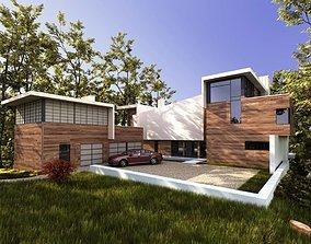3D Wooden Modern Villa
