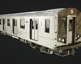 Subway Train 3D asset