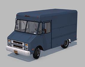 Classic Van - C4D Rigg - PBR 3D model