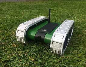 3D print model RC FPV tank rover