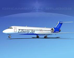 Boeing 717-200 Liberty Jet 3D