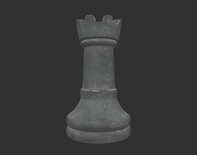 3D model CHES-011 Chess Rook White