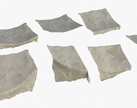 Old Fabric Cloth Assets 03 3D model VR / AR ready