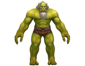 Orc Male Full Rig and HumanIK 3D model