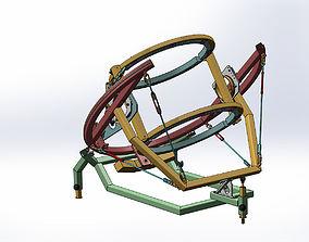 Telescope tube frame assembly 3D