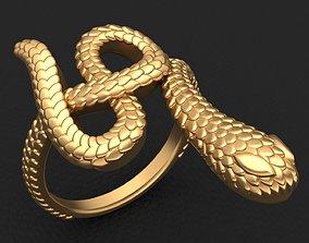 3D printable model Snake Animal Gold Brand Ring
