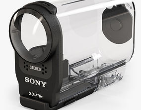 3D asset low-poly Sony SPK-AS2 Case for HDR-AS200V