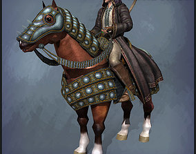 Warlock with Horse 3D asset