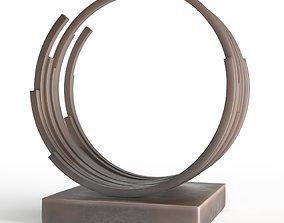 Modern Decorative Abstract Bronze Art Sculpture 3D model 1