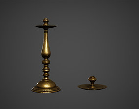Medieval Candle Holders Low Poly Game Ready 3D model