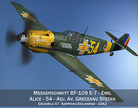 3D Messerschmitt - BF-109 E - Romanian Air Force - 54