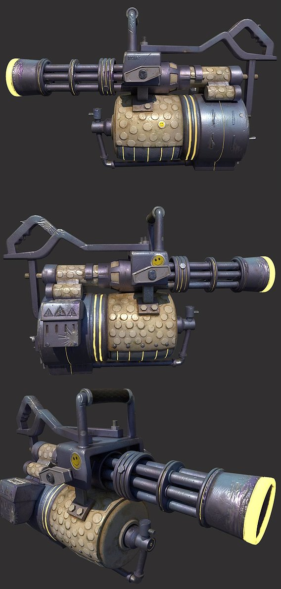 TF2 INSPIRED PURPLE MINIGUN