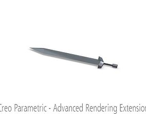 3D model clash of clans barbarian sword