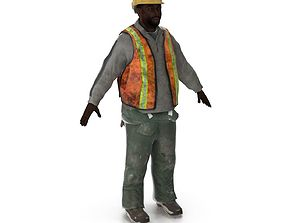 Worker animated 3D asset