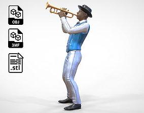 N3 Trumpeter standing playing Trumpet 3D printable model