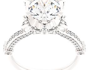 75 different Engagement ring model obj 3dm stl