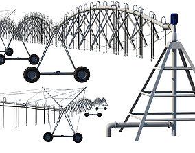 Center Pivot Irrigation System 3D model
