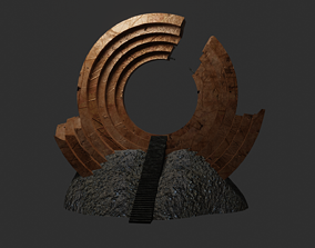 Ancient portal sci-fi 3D model