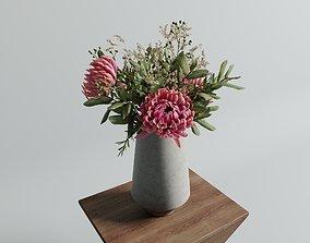 3D model Chrysanthemum vase arrangement